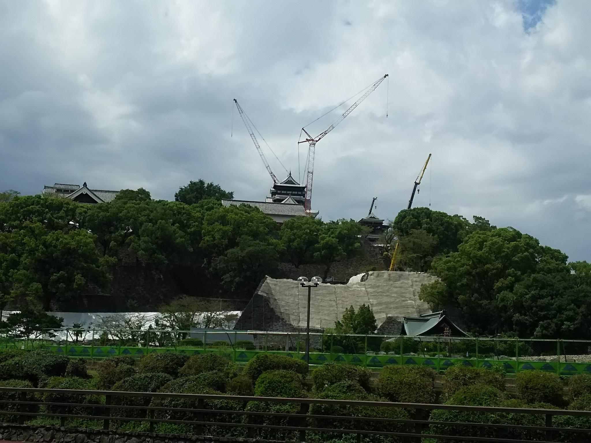 熊本城 復旧作業